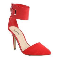 Women's Beston Ines-11 Cherry Faux Suede Faux Suede/Faux Leather