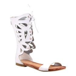 Women's Beston Ongee-10 White Faux leather