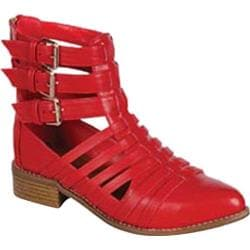 Women's Beston Sienna-01 Red Faux Leather