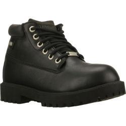 Men's Skechers Sergeants Verdict Black Waterproof Leather