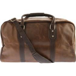 Piel Leather Classic Vintage Zip-Down Duffel 2970 Vintage Brown Leather