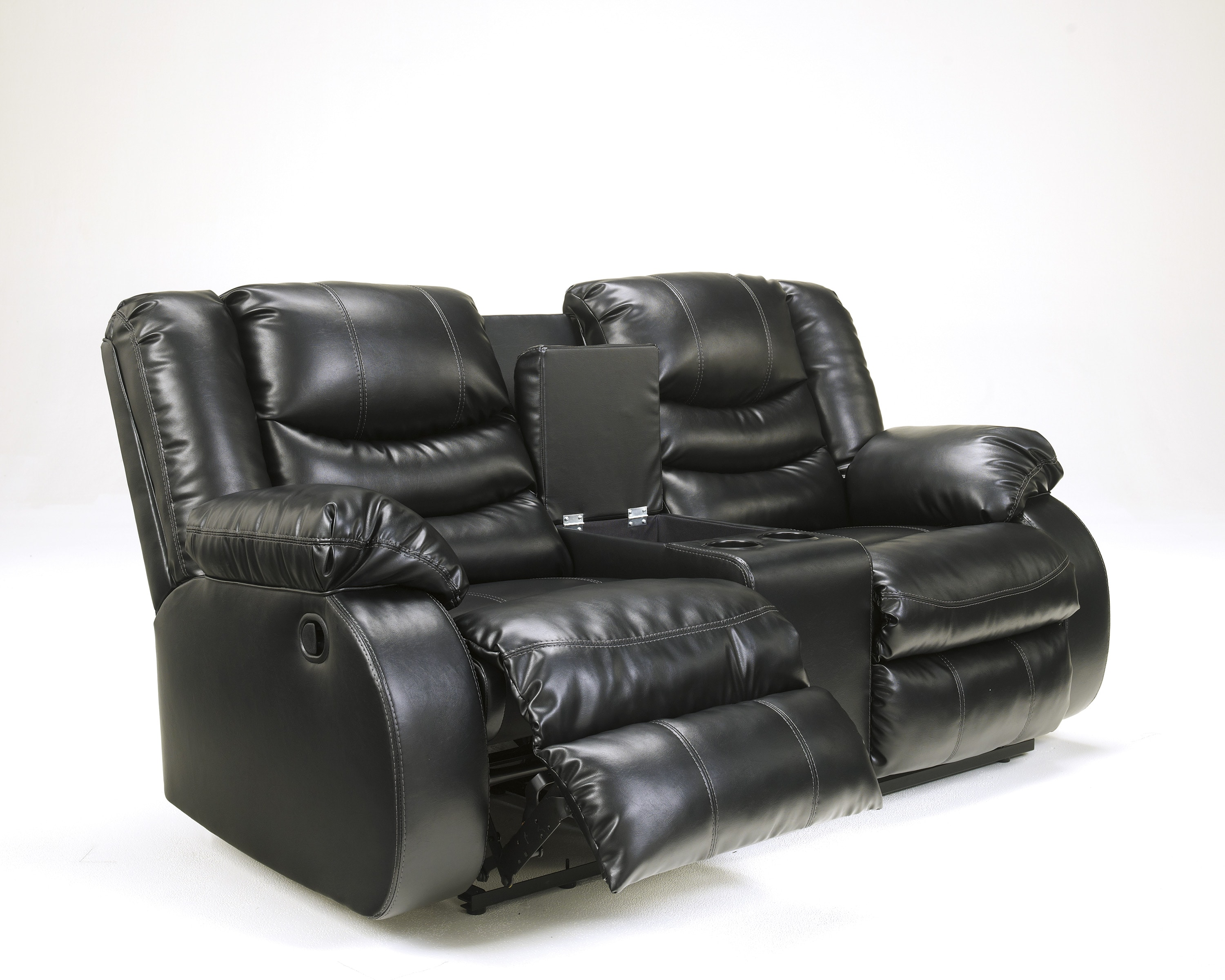 Signature Design by Ashley Linebacker DuraBlend Black Rocker Recliner