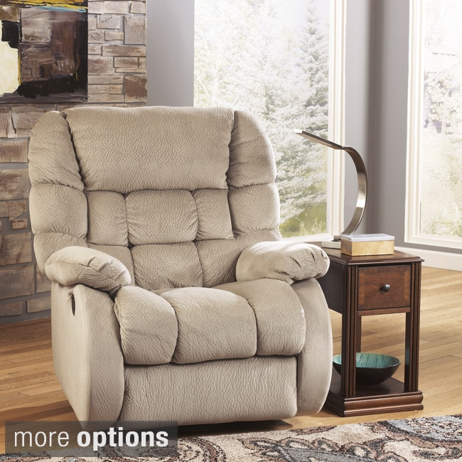 Signature Design by Ashley Dorie Stakes Fabric Glider Recliner
