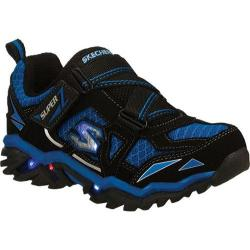 Boys' Skechers S Lights Pillar 2.0 Hawk Black/Blue