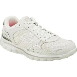 Women's Skechers GOwalk 2 Flash Furry White/Silver