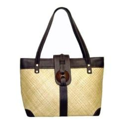 Women's Bamboo54 Pandanus Straw Bag Natural