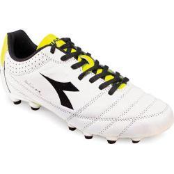 Men's Diadora Italica Goal K-Pro White/Black/Yellow Fluo