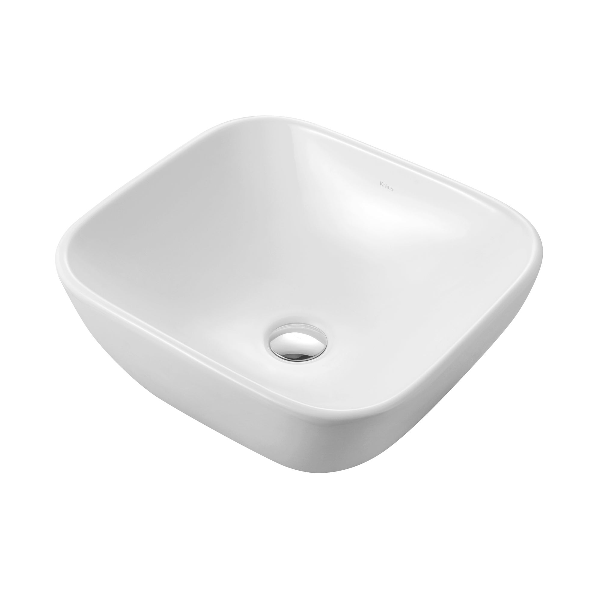 Kraus White Rectangular Ceramic Vessel Bathroom Sink