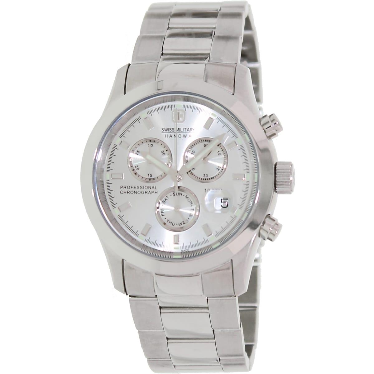 Swiss Military Hanowa Women's Freedom 06-5115-04-001 Silvertone Stainless Steel Swiss Chronograph Watch with Silvertone Dial