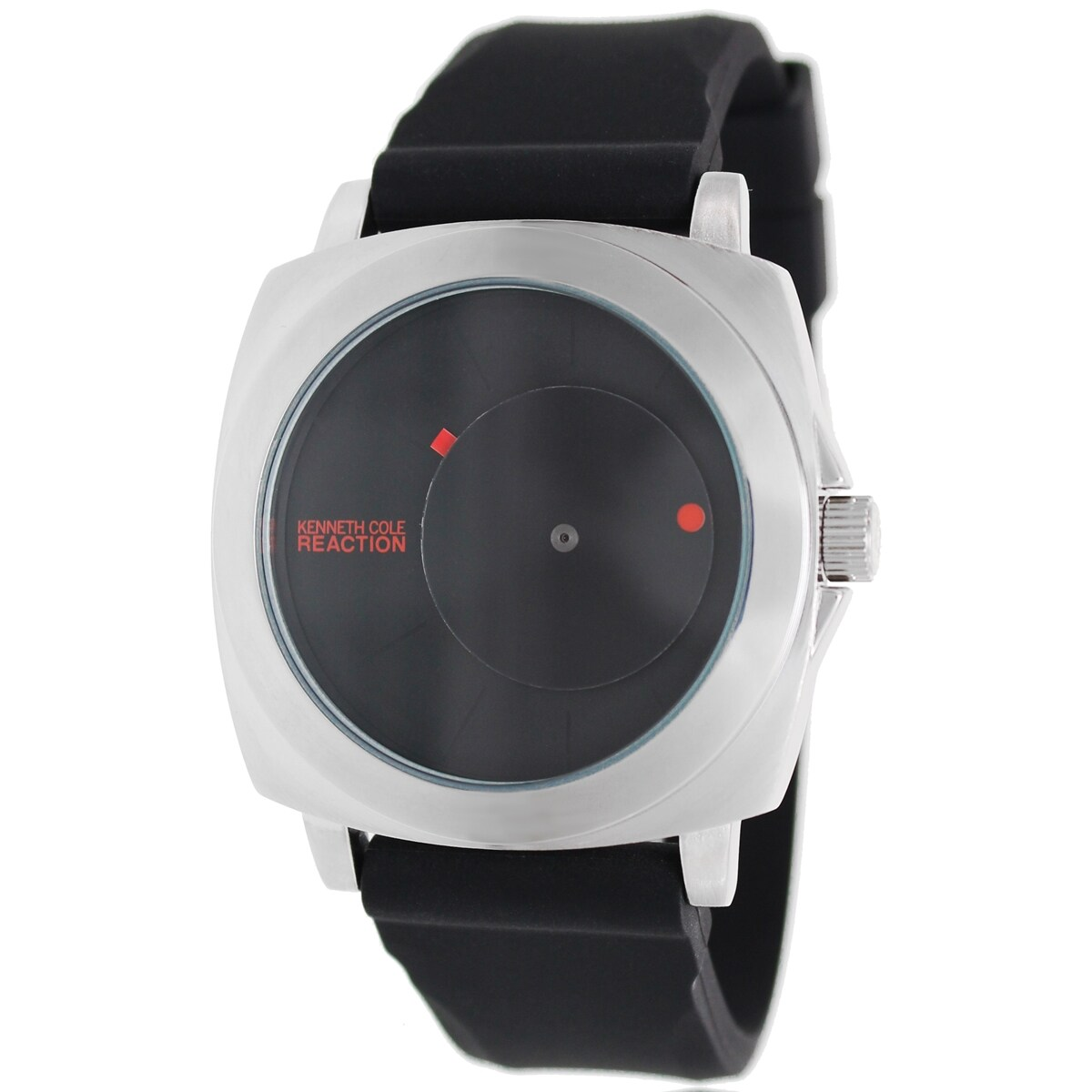 Kenneth Cole Reaction Men's RK1327 Black Silicone Quartz Watch with Black Dial