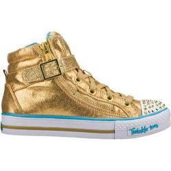 Girls' Skechers Twinkle Toes Shuffles Heart N Sole Gold