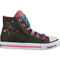 Girls' Skechers Twinkle Toes Shuffles Hip Chix Black/Multi