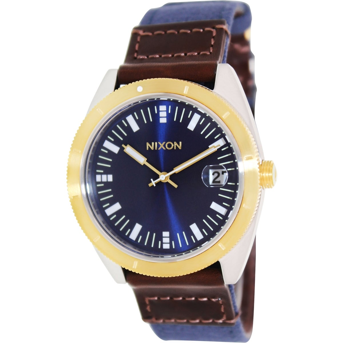 Nixon Men's Rover A3551429 Blue Leather Quartz Watch with Blue Dial