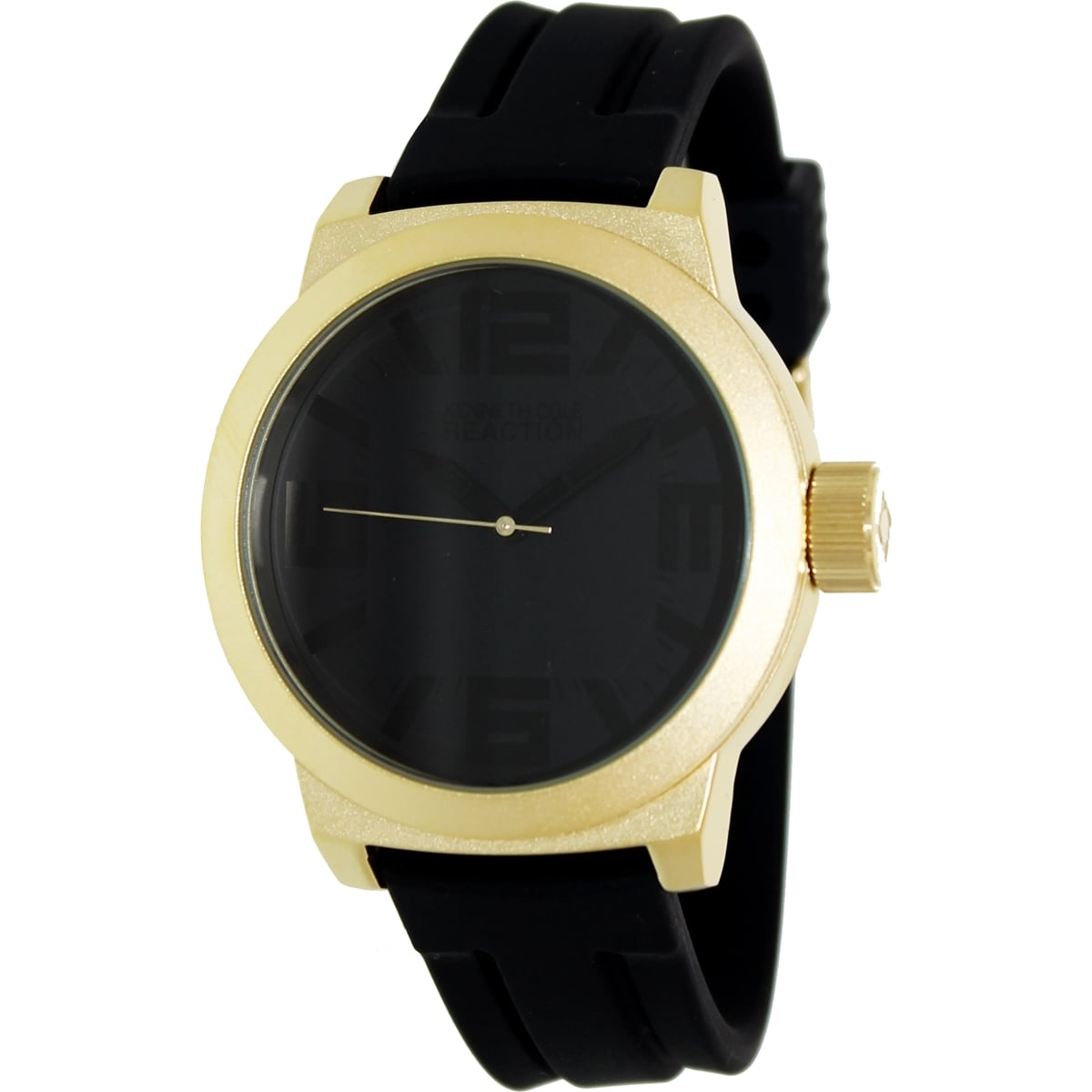 Kenneth Cole Reaction Men's RK1316 Black Silicone Quartz Watch with Black Dial