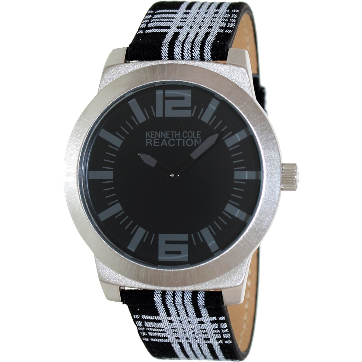 Kenneth Cole Reaction Men's Street RK1286 Two-Tone Leather Quartz Watch with Black Dial