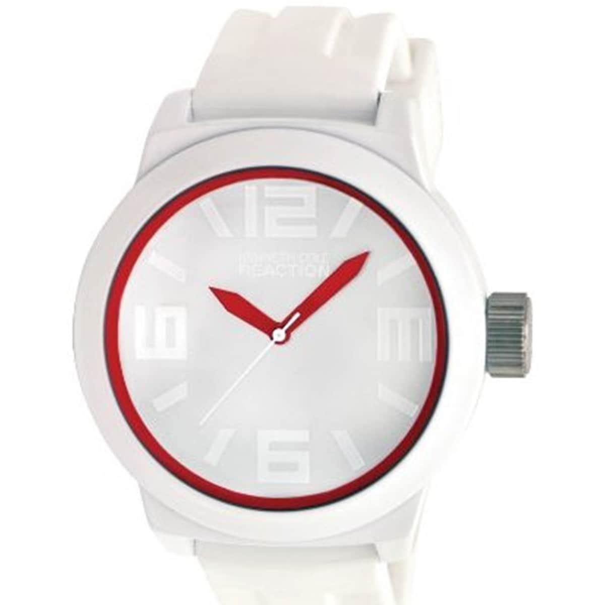 Kenneth Cole Reaction Men's Reaction RK1241 White Silicone Analog Quartz Watch with White Dial