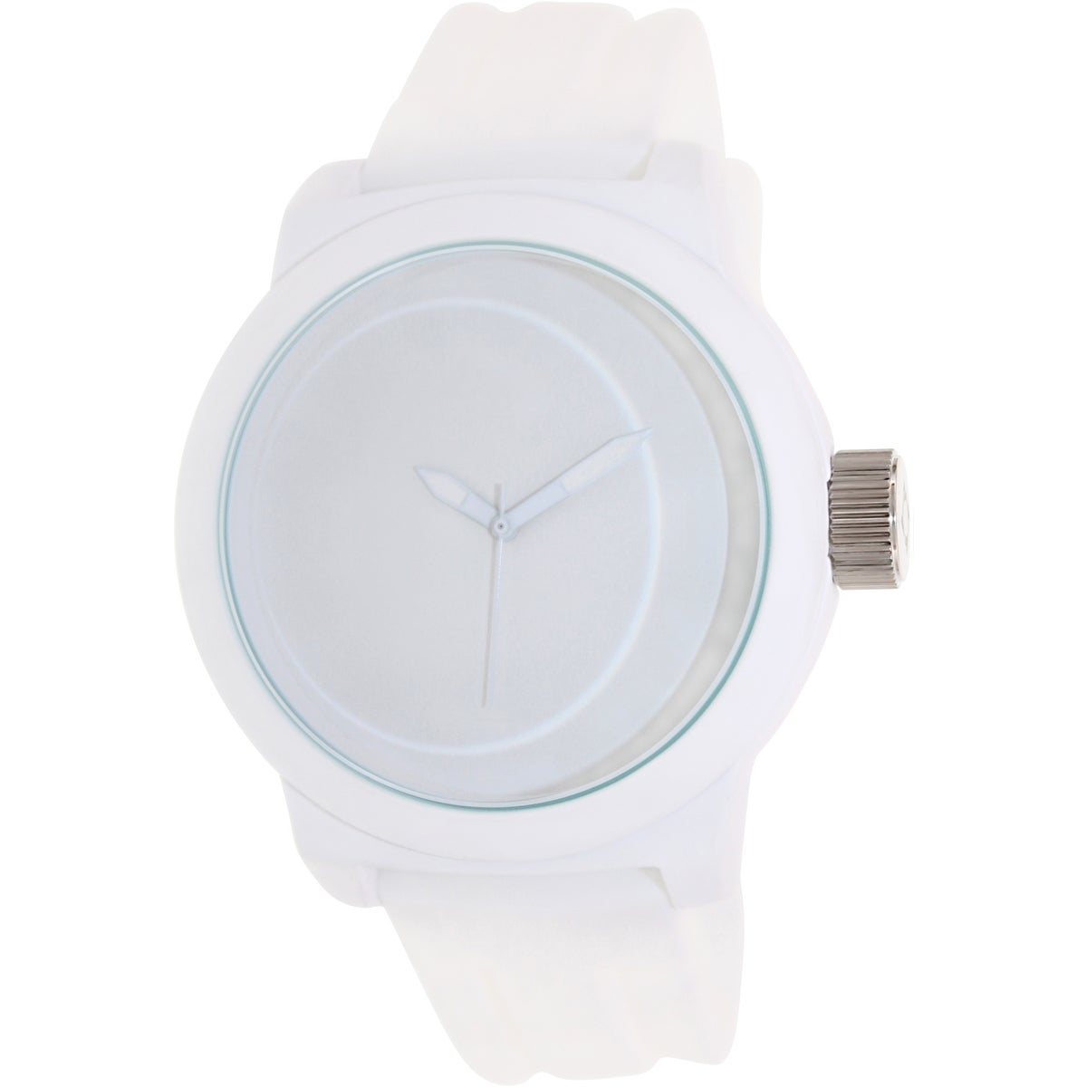 Kenneth Cole Reaction Men's Reaction RK1225 White Silicone Analog Quartz Watch with White Dial
