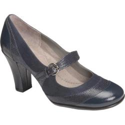 Women's Aerosoles Roler Rink Navy Faux Suede/Lizard Fabric/Faux Patent