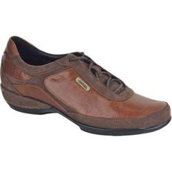 Women's Aetrex Essence Holly Lace-Up Oxford Brown Leather/Suede
