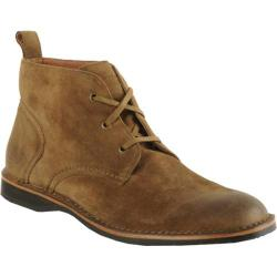Men's Andrew Marc Dorchester Chukka Tobacco/Black/Deep Natural Suede