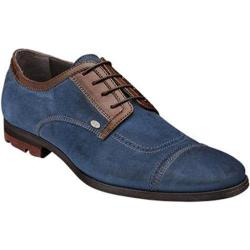 Men's Bacco Bucci Valle Blue/Brown Suede/Calf