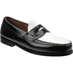 Men's Bass Logan Black/White Brush Off Leather
