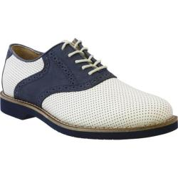 Men's Bass Burlington White Perfed/Navy Latigo/Nubuck