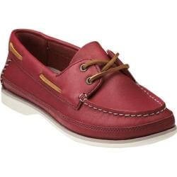 Women's Clarks Jetto Boat Red Leather