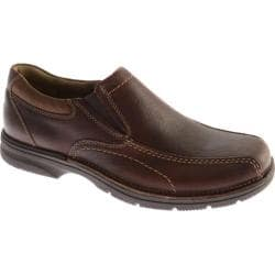 Men's Clarks Senner Pine Brown Tumbled Leather