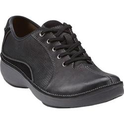Women's Clarks Wave.Drift Black Leather