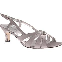 Women's David Tate Rosette Silver Satin