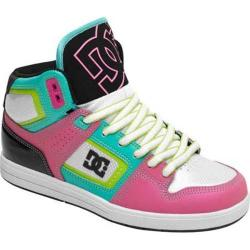 Women's DC Shoes Destroyer HI White/Pink/Multi