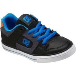 Boys' DC Shoes Pure Black/Grey/Blue