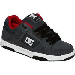 Men's DC Shoes Stag Grey/Red