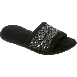 Women's Dearfoams Sequin Scuff Black