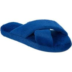 Women's Dearfoams Summer Fur Slide Blueberry