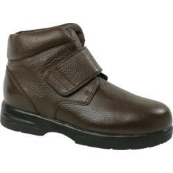 Men's Drew Big Easy Brown Pebbled Leather