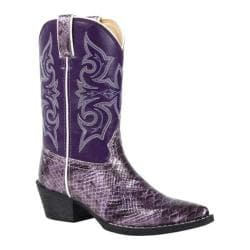 Children's Durango Boot BT008 8in X Toe Western Boot Purple/Violet