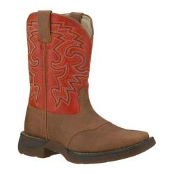 Boys' Durango Boot BT205 8in Rebel Tan/Orange