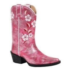 Girls' Durango Boot BT297 8in X Toe Embroidered Blush Shimmer