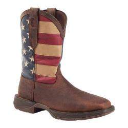 Men's Durango Boot DB020 11in Flag Pull-On Brown/Union Flag