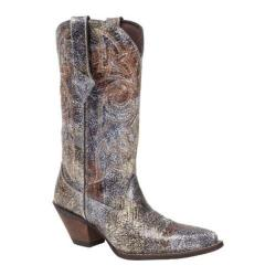 Women's Durango Boot DCRD012 12in Crackle & Chrome Crush Picasso Metallic