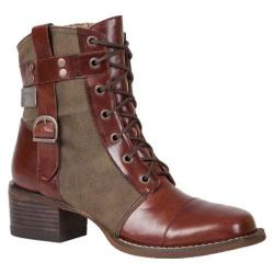 Women's Durango Boot DCRD041 6in World Traveler Lacer Mahogany/Canvas