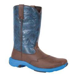 Men's Durango Boot DWDB006 11in Full Flavor Rebel Lite Square Toe Dark Brown/Pebbled Blue