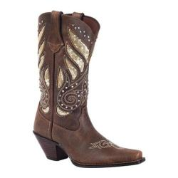 Women's Durango Boot RD003 12in Crush Bling Western Boot Brown/Gold