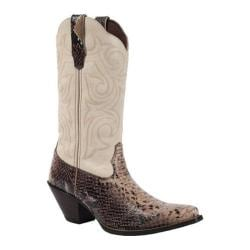 Women's Durango Boot RD018 11in Western Scalloped Marbled Chocolate