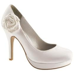 Women's Dyeables Isla White Satin