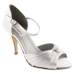 Women's Dyeables Nora White Satin