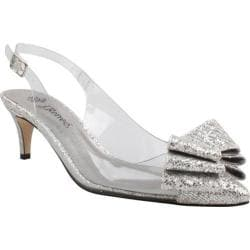 Women's J. Renee Gilden Clear Vinyl/Silver Glam Fabric