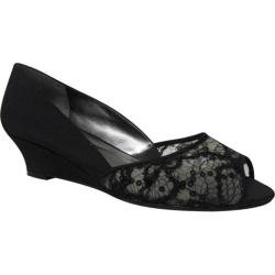 Women's J. Renee Lynn Black Lace/Mesh/Satin